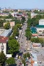 Samara city, Russia, view from height on city Stock Photo