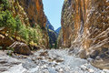Samaria Gorge in central Crete Royalty Free Stock Photo