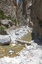 Samaria gorge at Crete in Greece Stock Photos