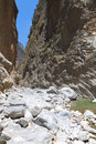 Samaria gorge at Crete island Royalty Free Stock Photos