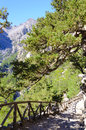 Samaria gorge island of crete greece the is a national park on the a major tourist attraction the and a world s Royalty Free Stock Photography