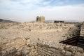Samaritan mount greizim griezim ruins holy place for the community israel Stock Image