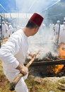 Samaritan Passover sacrifice Stock Photography