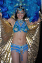 Samba dancer performing during the festival on july in warsaw poland Royalty Free Stock Images