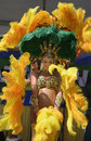 Samba dancers perform at brazilian day in los angeles ca Royalty Free Stock Photo