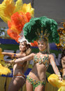 Samba dancers perform at brazilian day in los angeles ca Stock Photography