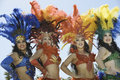 Samba dancers Royalty Free Stock Photo
