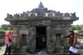 Sambisari temple some of tourists were in the tourist area yogyakarta indonesia the was accidentally discovered in july by Stock Images