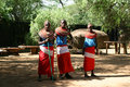 Samburu tribe kenya reserve june group of african girls from in show their traditional clothes on june in a local Stock Photo
