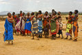 Samburu Women Dancers, Kenya Africa Stock Photos