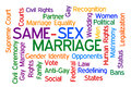 Same sex marriage word cloud on white background Stock Images