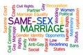 Same Sex Marriage Royalty Free Stock Photo