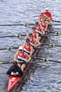 Sammish rowing association races in the head of charles regatta women s youth eights boston october Royalty Free Stock Image