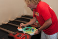 Sammy s gives back roseville ca september hagar autographs guitars made by woodshop rocks a charitable organization at rockin Royalty Free Stock Images
