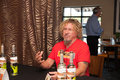 Sammy s gives back roseville ca september hagar at a press conference at rockin island bar and grill in roseville california on Royalty Free Stock Photography