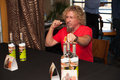 Sammy s gives back roseville ca september hagar at a press conference at rockin island bar and grill in roseville california on Stock Image