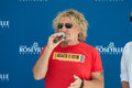 Sammy s gives back roseville ca september hagar speaks at donation ceremony at roseville town sqaure in roseville california on Stock Image