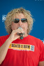 Sammy s gives back roseville ca september hagar speaks at donation ceremony at roseville town sqaure in roseville california on Stock Images