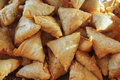 Samosa close up view of background Stock Photography