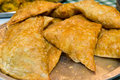 Samosa pile of fresh crusted samosas traditional indian food Stock Photo