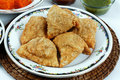 Samosas with sauce Royalty Free Stock Photo
