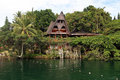 Samosir island traditional batak house on the indonesia Stock Photo