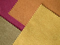 Sample fabric hot tone color layer texture for background Stock Photos