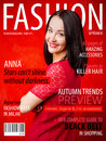 Sample fashion magazine cover