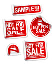 Sample not for sale stickers. Stock Photo