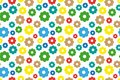 Sample pattern background with flowers on white background