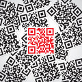 Sample red qr code Royalty Free Stock Photos