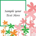 Sample your text here card with colorful flower in frame Royalty Free Stock Photo