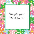 Sample your text here card with colorful flower Royalty Free Stock Photo