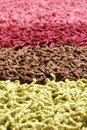 Samples of collection carpet Stock Image