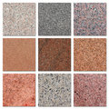 Samples of egyptian granite. Royalty Free Stock Photos