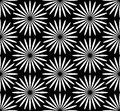 Samples flower pattern in black and white Royalty Free Stock Images