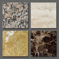 Samples of marble and granit Royalty Free Stock Photo