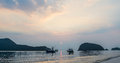 Samroiyod Beach,Thailand ,fishing boats on the sea, background Royalty Free Stock Photo