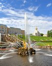 Samson Fountain in Peterhof Palace, Russia Royalty Free Stock Photo