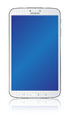 Samsung galaxy tab white the new illustration front view of a android tablet isolated on background Stock Image