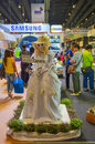 Samsung girl mascot to promote samsung galaxy camera thailand photo fair Stock Photo