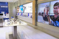 Samsung showroom consumer electronic displaying various version of mobile device photo was taken on november Stock Image