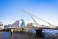 Samuel beckett bridge dublin ireland Stock Image