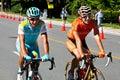 Samuel Sanchez and Vinokourov Royalty Free Stock Photo