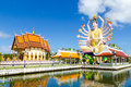 Samui lake temple statue buddhist state at the Stock Photography