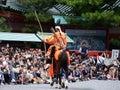 Samurai archer at Jidai Matsuri parade, Japan. Royalty Free Stock Photo