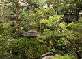 Samurai house garden kanazawa japan in the historical city of Stock Images