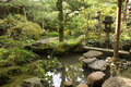 Samurai house garden kanazawa japan in the historical city of Stock Photography