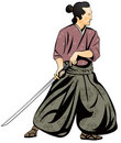 Samurai, Japanese martial art Royalty Free Stock Images