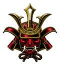 Samurai Mask Japanese Shogun Warrior Helmet Royalty Free Stock Photo